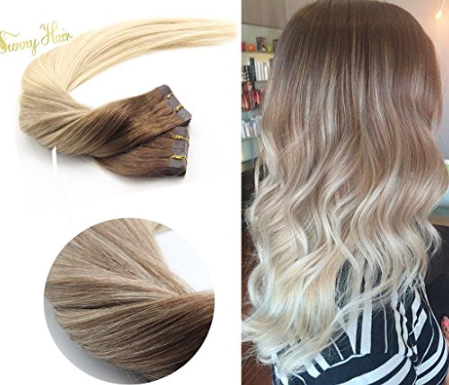 Sunny Two Tone Color Dark Ash Blonde Highlights With Golden Blonde