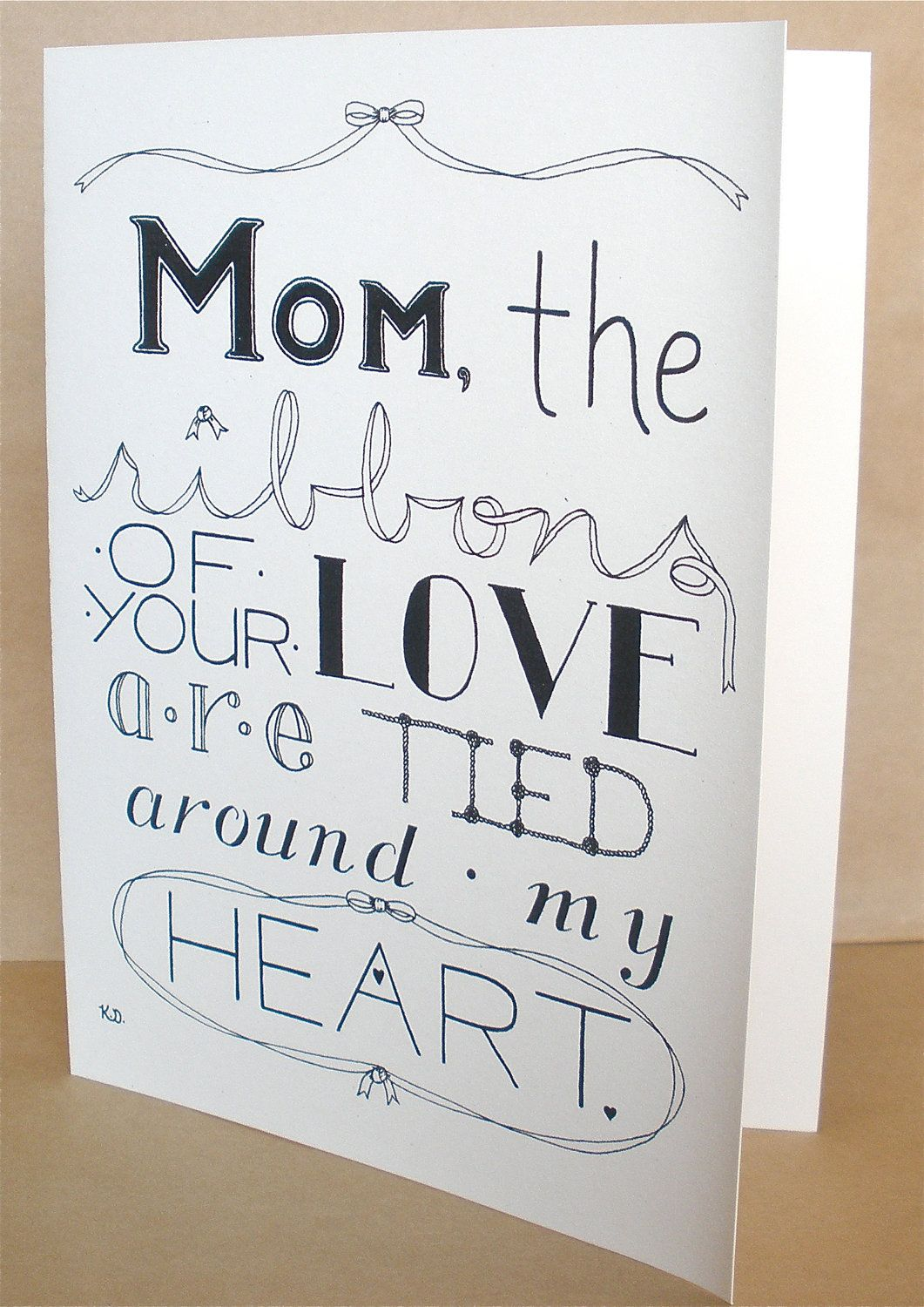 Mothers Birthday Card, Blank Mothers Day Card, Moms Day