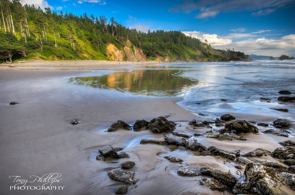 Indian Beach at Ecola State Park in Oregon Ecola state