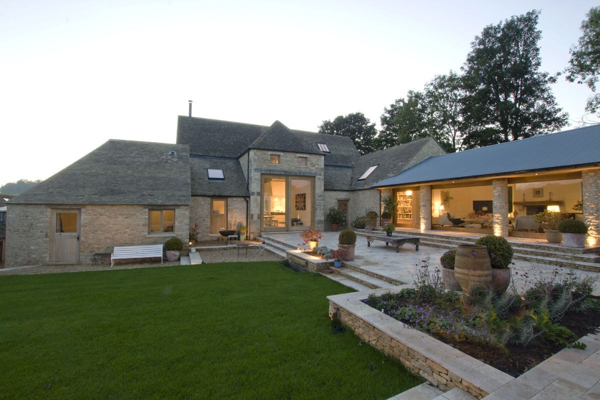 Architecturally striking barn conversion in for Metal building house conversion