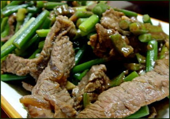 Beef & Garlic Scapes Stir Fry Beef & Garlic Scapes Stir Fry