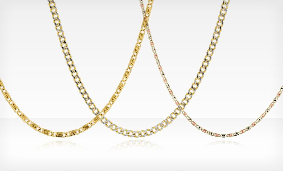 7787af246ae9c 10-Karat Solid Gold Necklace Chain (Up to 88% Off). Multiple Styles ...