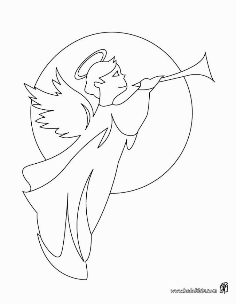 Angel Gabriel Coloring Page Angel Coloring Pages Angel Gabriel