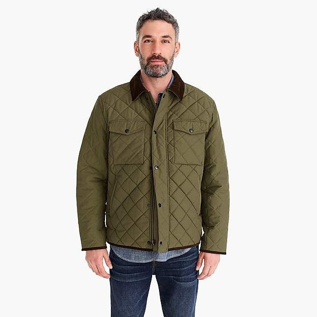 af4cb26d147b J.Crew Sussex quilted jacket with corduroy collar
