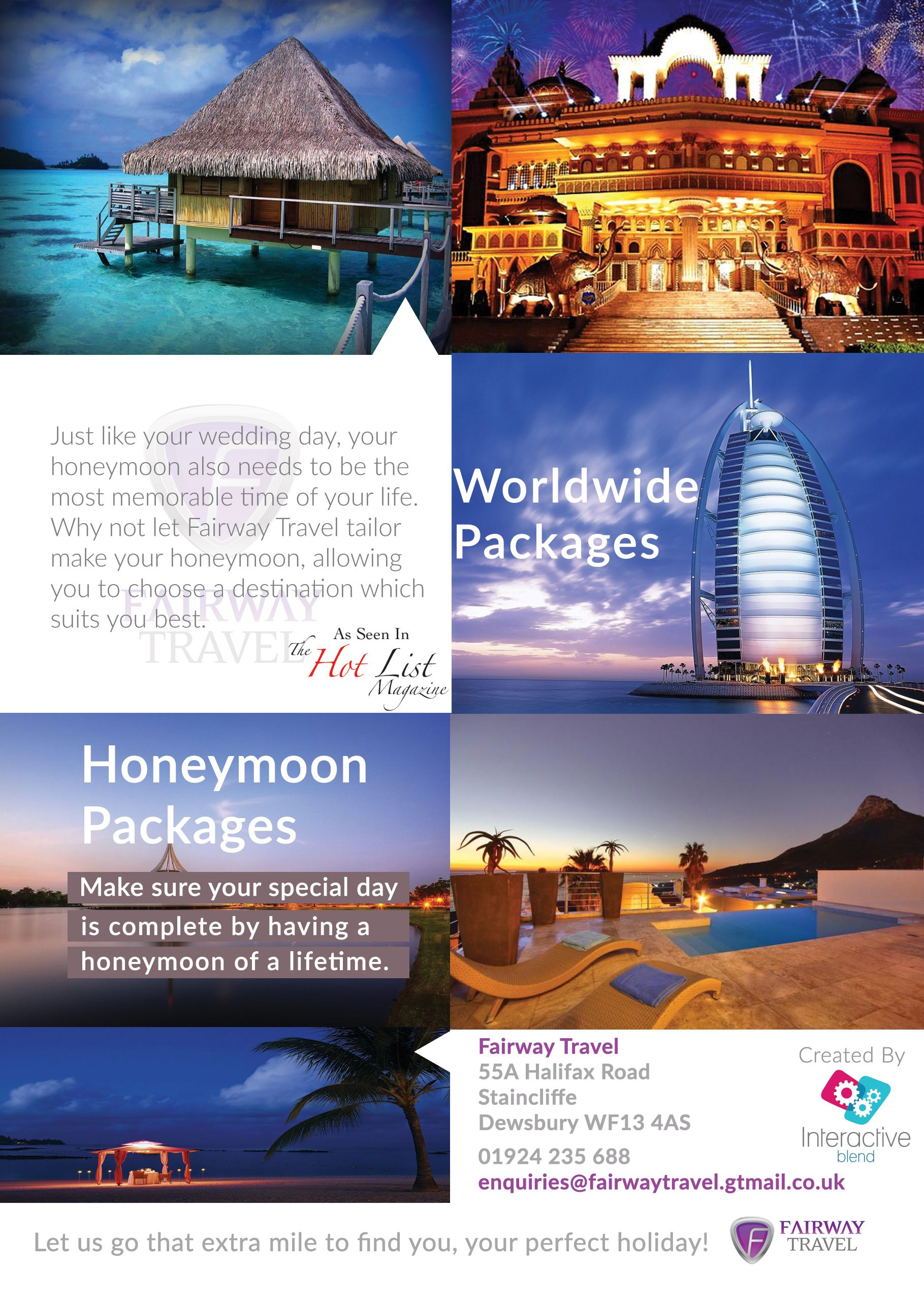 An A5 Advertisement For A Travel Agency