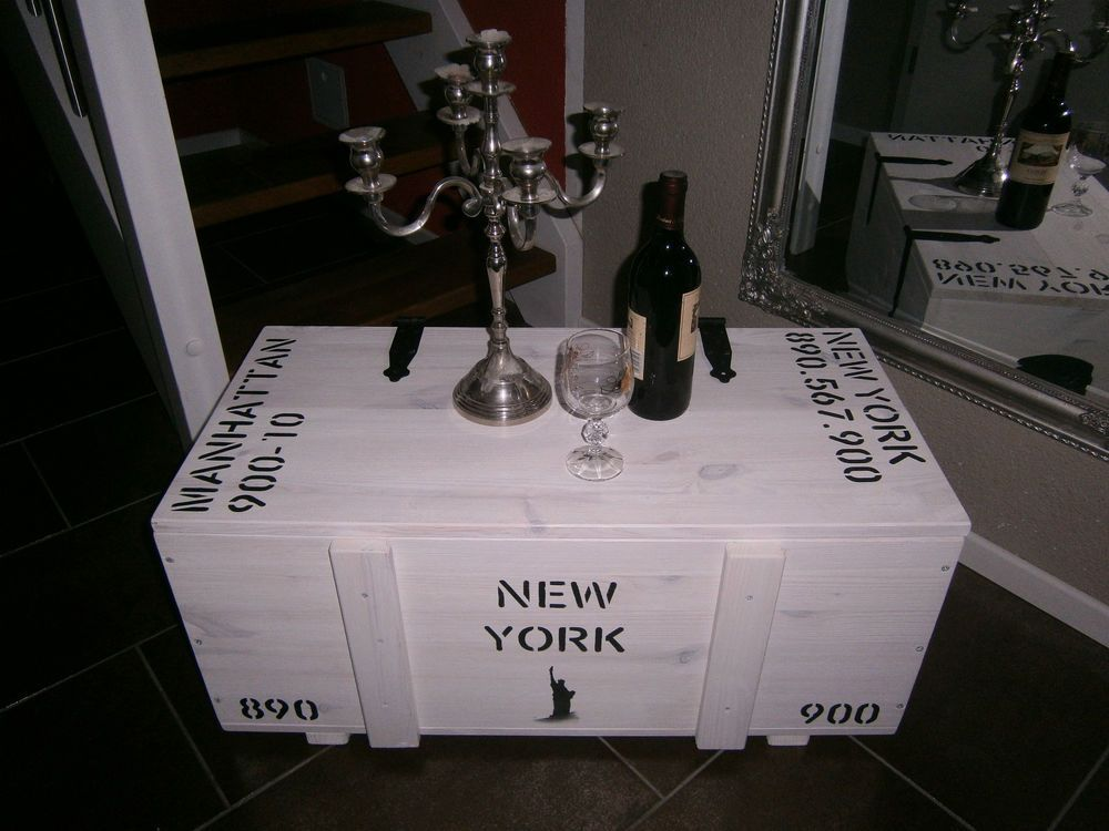 couchtisch truhe tisch kiste frachtkiste holzkiste minibar loft new york truhen. Black Bedroom Furniture Sets. Home Design Ideas