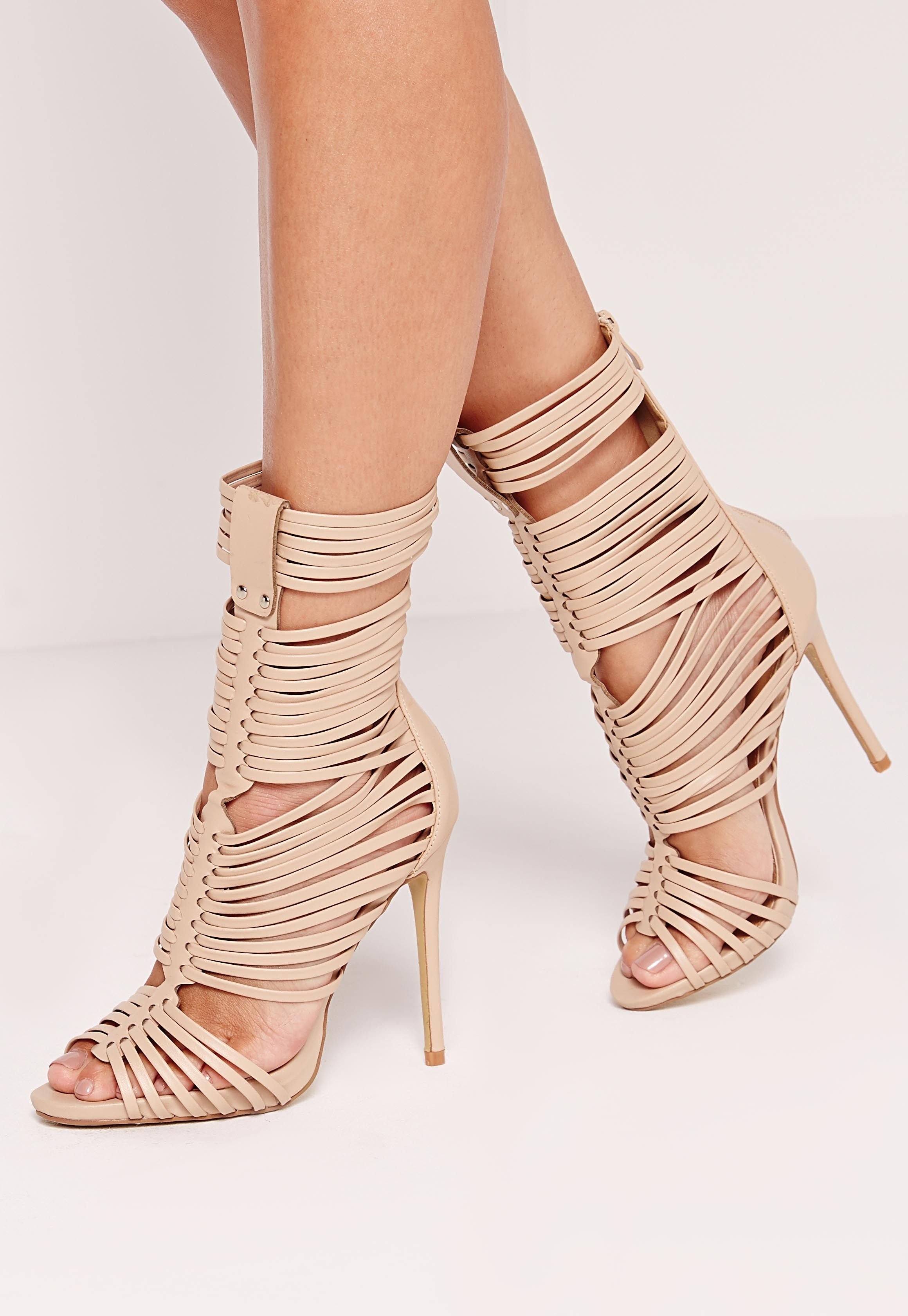 8ab9f739b18 Missguided - Ultra Strappy Gladiator Nude