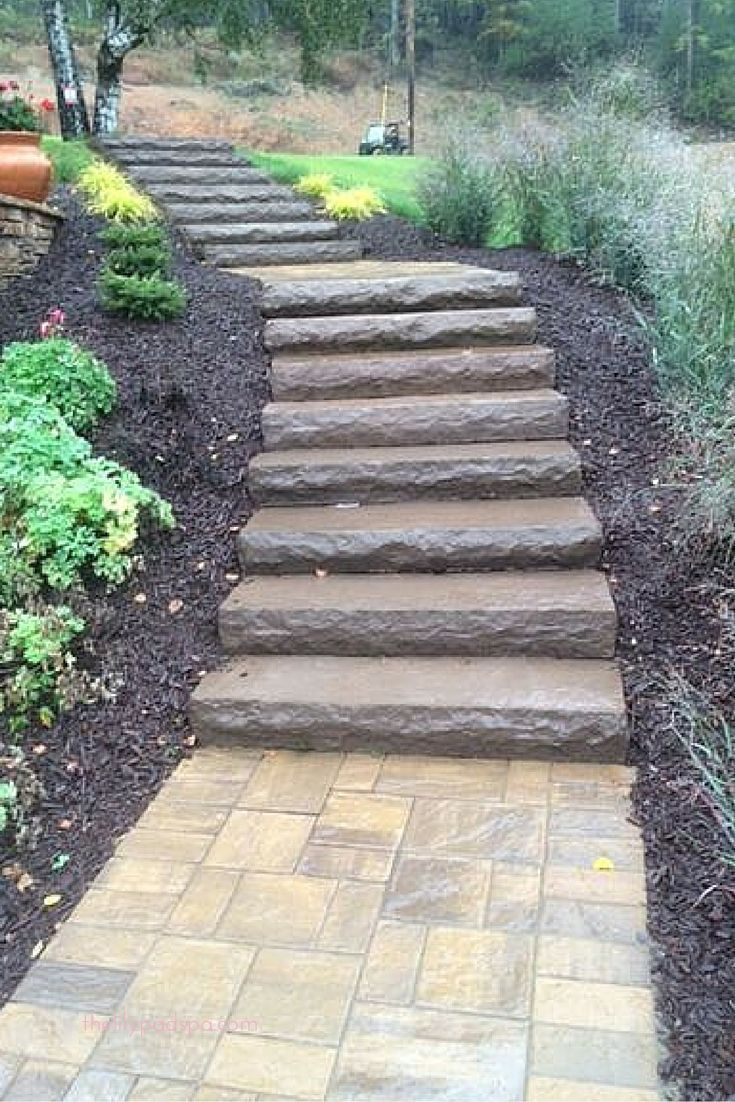Cambridge pavingstones wall systems color options - Where Would Your Cambridge Steps Take You Cambridge Cast Stone Stairs Are Ideal For Any