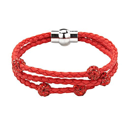 An updated version of your old friendship bracelet. 3 Row Cord Pave Bead Bracelet #Gifting