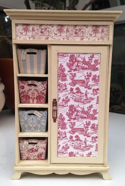 Gorgeous 1/12th Scale Shabby Chic/French Style Wardrobe: