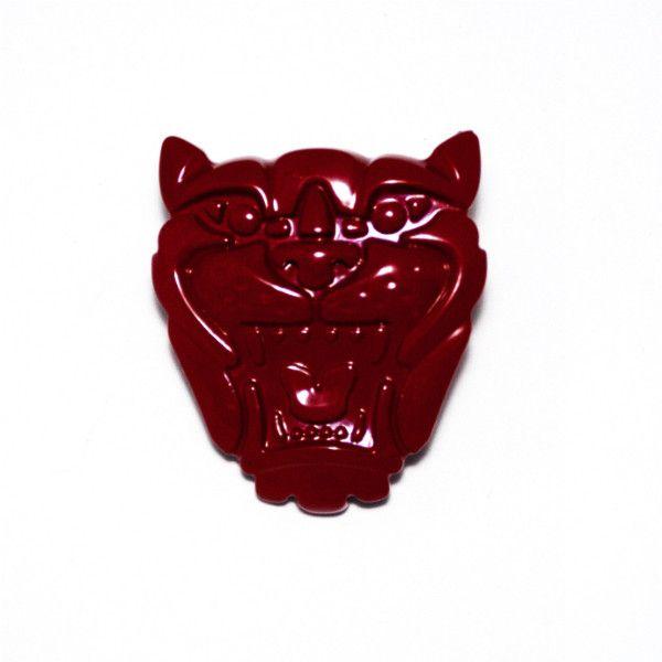 Jaguar Grill Badge Red colour
