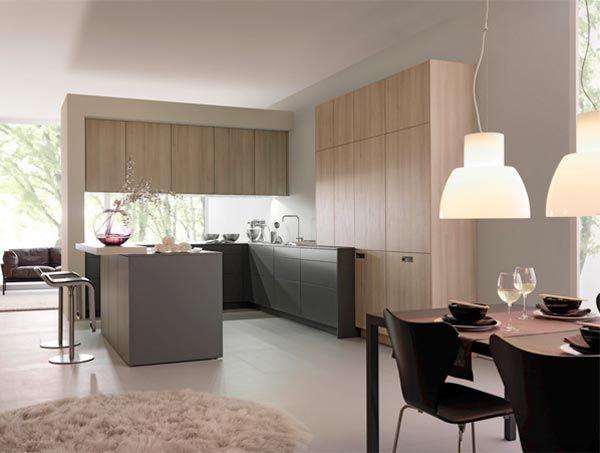 Modern Blonde Wood Kitchen