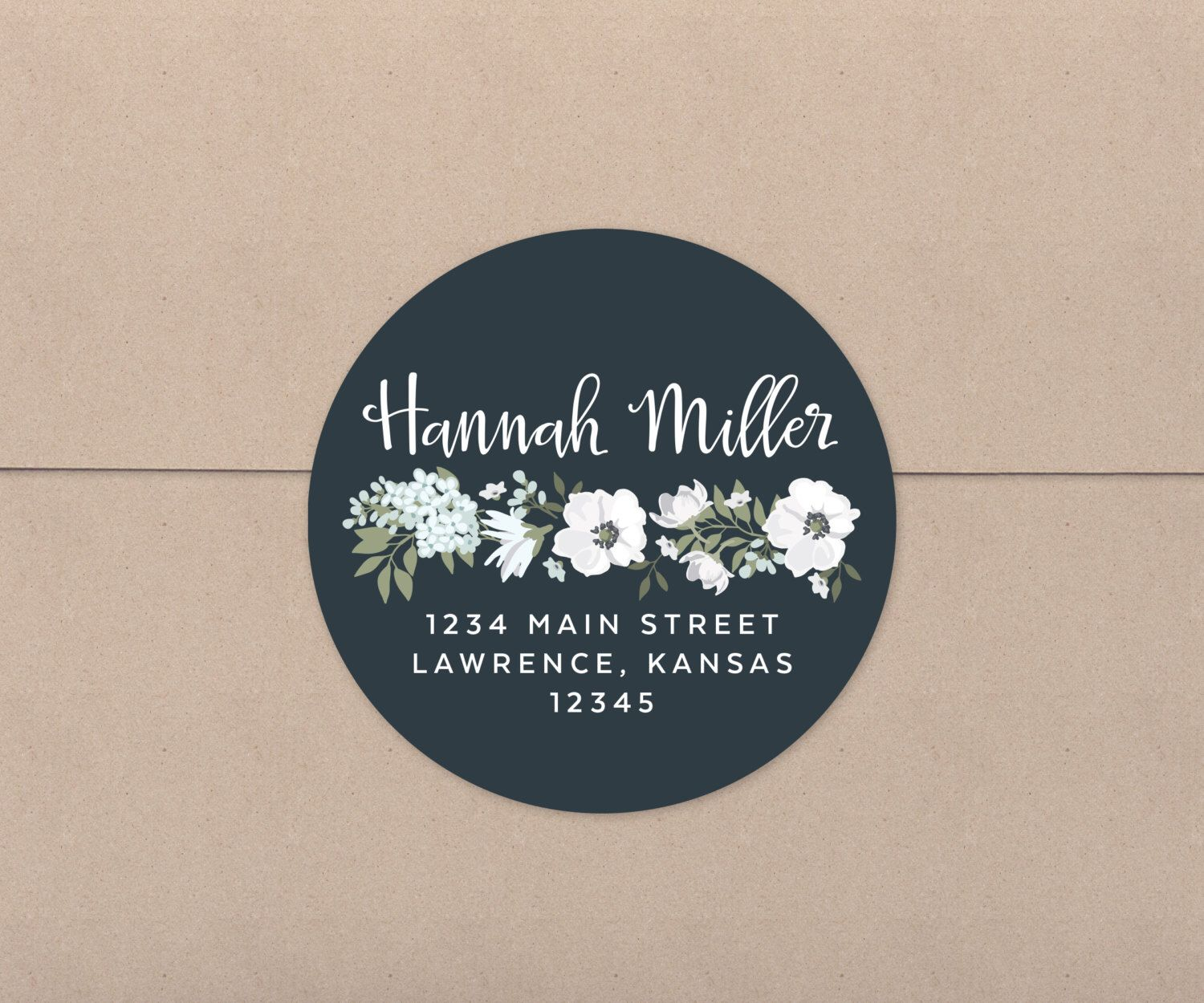 Address Stickers Return Labels Wedding Favor Tags Fl Stationery House Warming Gift Personalized