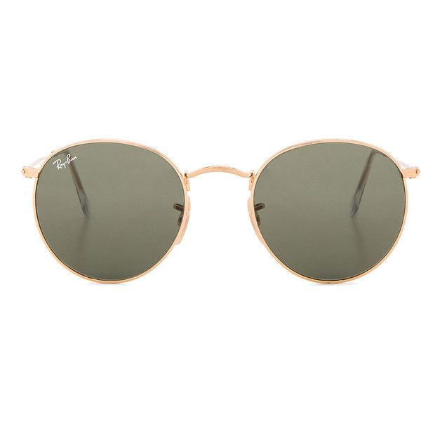 a29b30ee7e Ray-Ban Round Sunglasses (505 BRL) ❤ liked on Polyvore featuring accessories