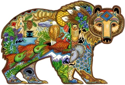 Wooden Jigsaw Puzzle From Liberty Puzzles. Artist Sue