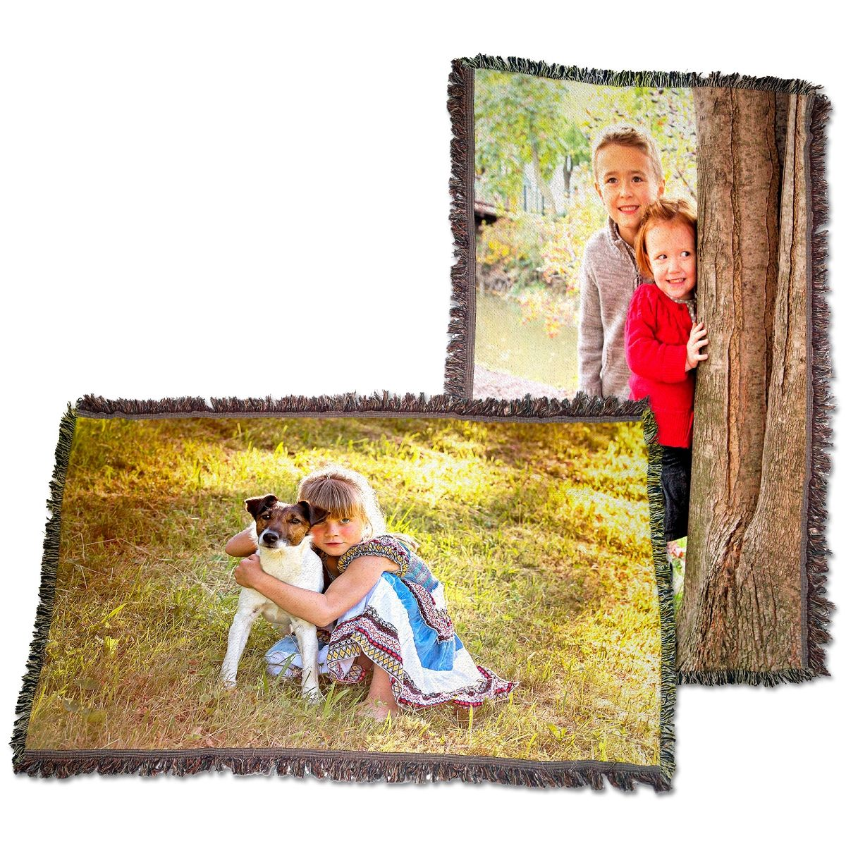 High Definition Personalized Woven Photo Blanket - 54x38 | PersonalThrows.com