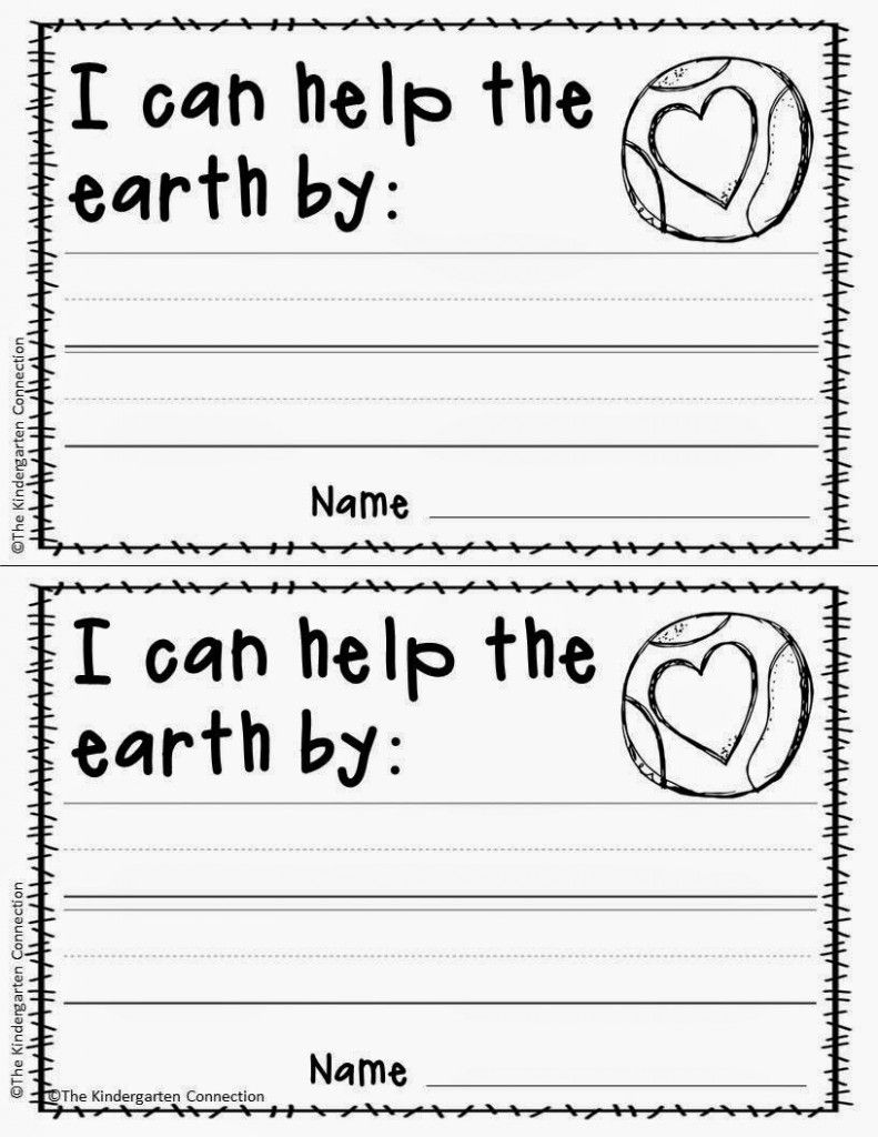 Free Printable Earth Day Writing Activity And Craft Project For