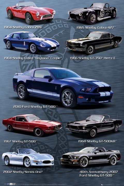 128abda4e6b Ford Shelby Mustang - compilation Poster