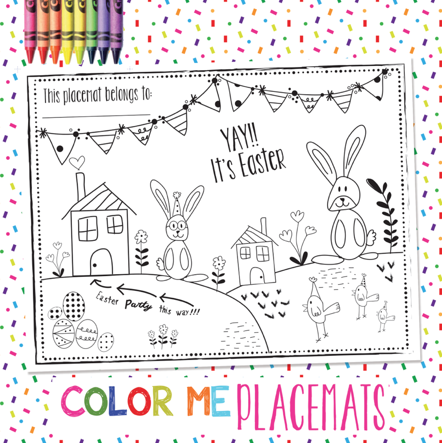 Easter Coloring Placemats | Coloring Pages | Pinterest | Easter ...