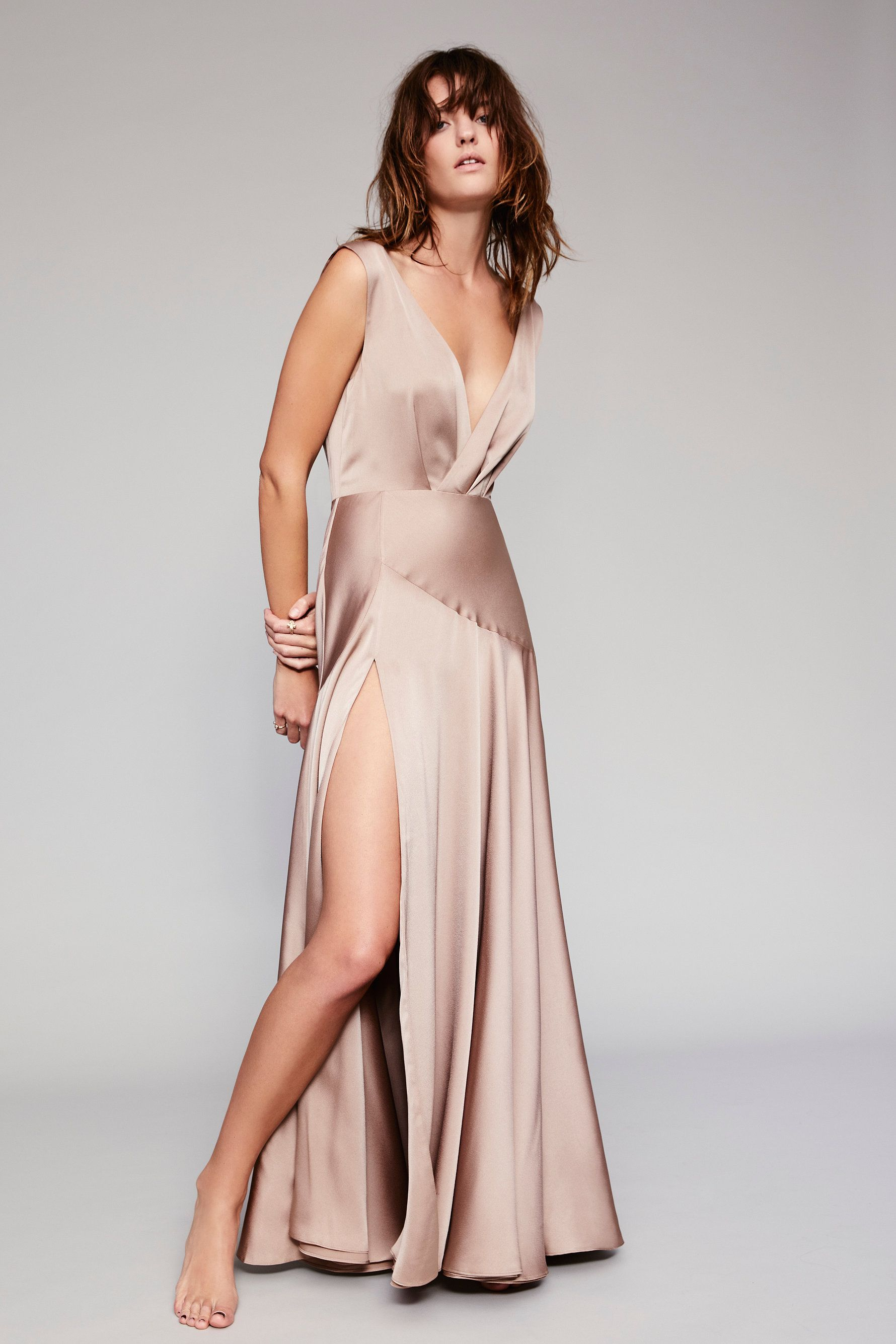 Essie Maxi Dress Fame And Partners Dark Tan Maxi Dress [ 2670 x 1780 Pixel ]