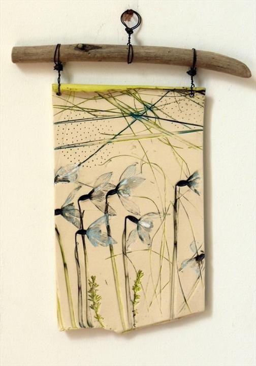 Snow drops plaque - Shirley Vauvelle | Garden art | Pinterest | Snow ...