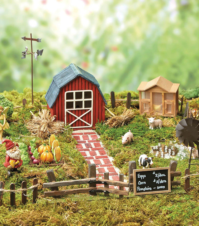 Edible Landscaping And Fairy Gardens: Fairy Garden Decor, Fairy Garden Farm