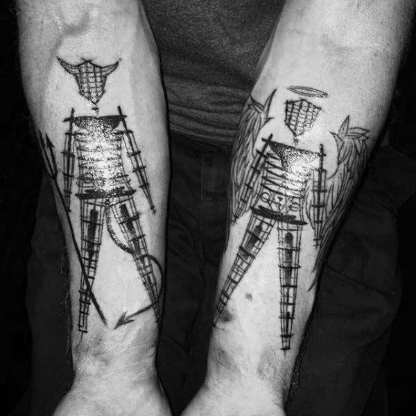 90a3812ef 60 Gemini Tattoos For Men - Zodiac Ink Design Ideas | gemini ...