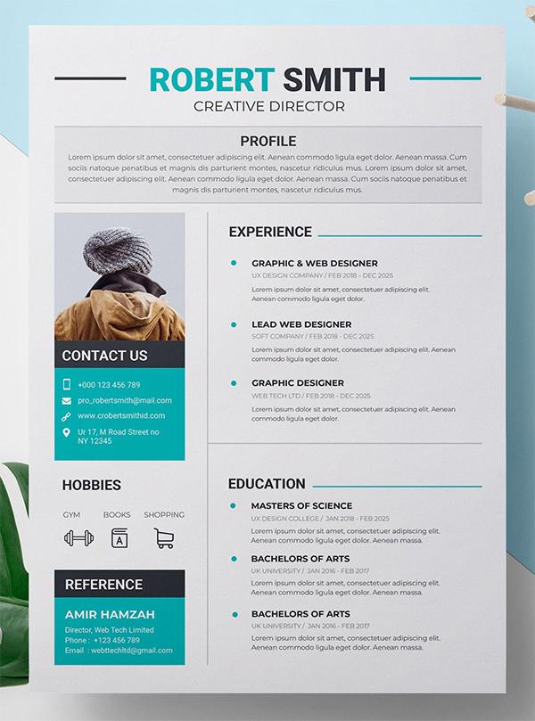 Perfect Resume CV Template resumetemplate resumedesign
