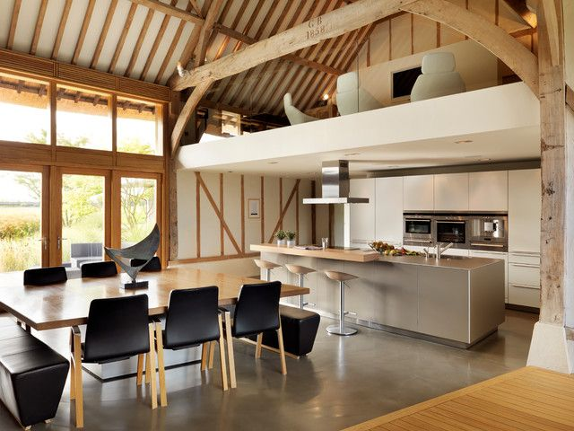 Open Plan Style For Renovating Old Barn
