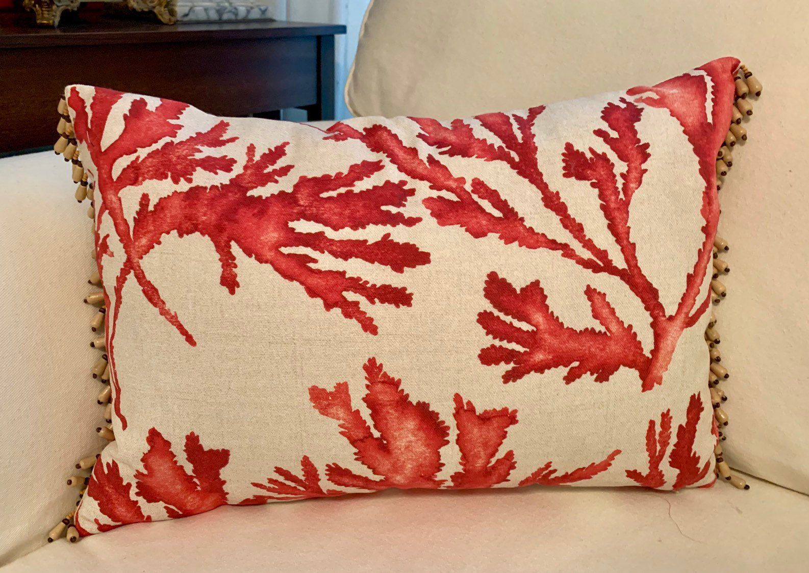 Excited To Share This Item From My Etsy Shop Coral Print Throw Pillow Beach Pillow Cover Coral Print Throw Pi Beach Pillow Covers Throw Pillows Beach Pillows