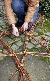 Weihnachtsdeko: Ein Stern aus Zweig