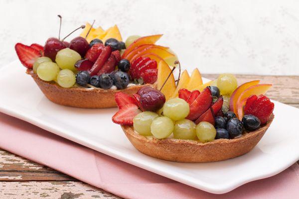Frutas en crema de naranjas