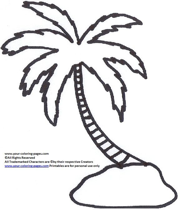 Palm Tree Coloring Pages, Tree Coloring Pages, Nature