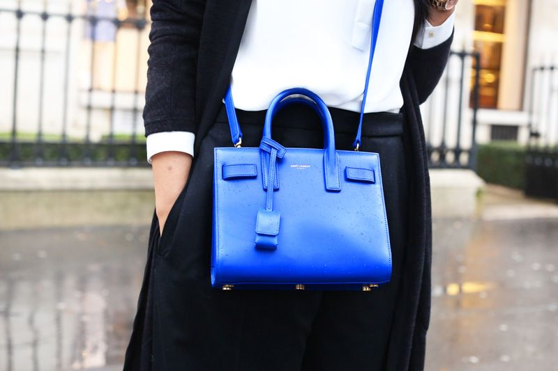 8422777cf639 ysl sac de jour in royal blue! Love! |saint laurent | Saint Laurent ...