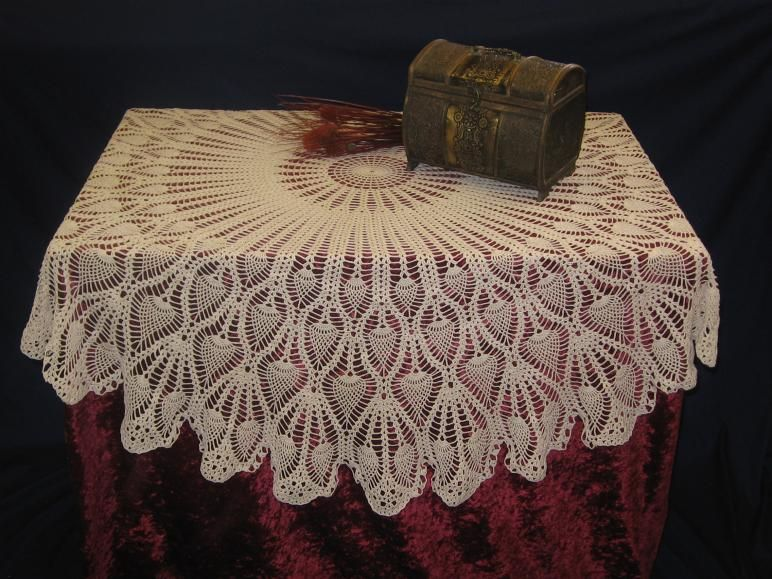 crocheting tablecloths | Free Crochet Tablecloth Patterns - Easy ...