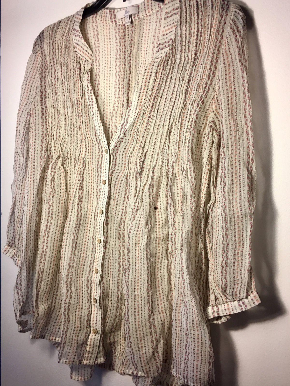 JOIE Women's Floral Stripe 100% Silk Blouse $278 RV Size Small (S) | eBay