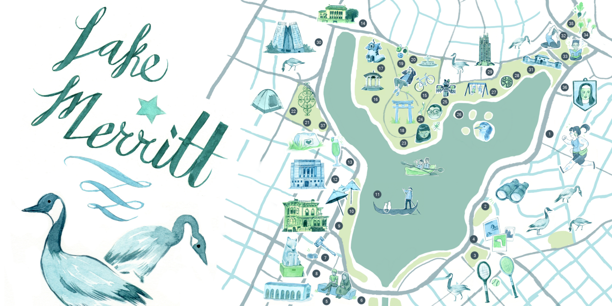 map of lake merritt An Illustrated Guide To Lake Merritt With Images Lake Merritt map of lake merritt