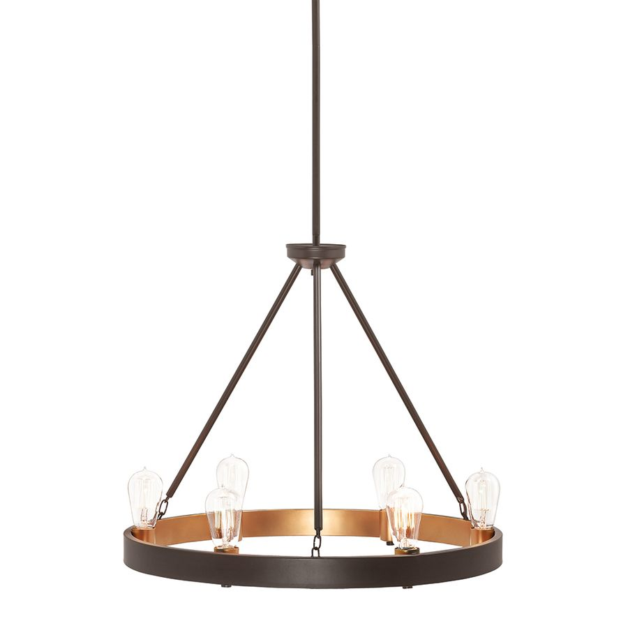 Shop Kichler Lighting Covington 6 Light Olde Bronze Chandelier At