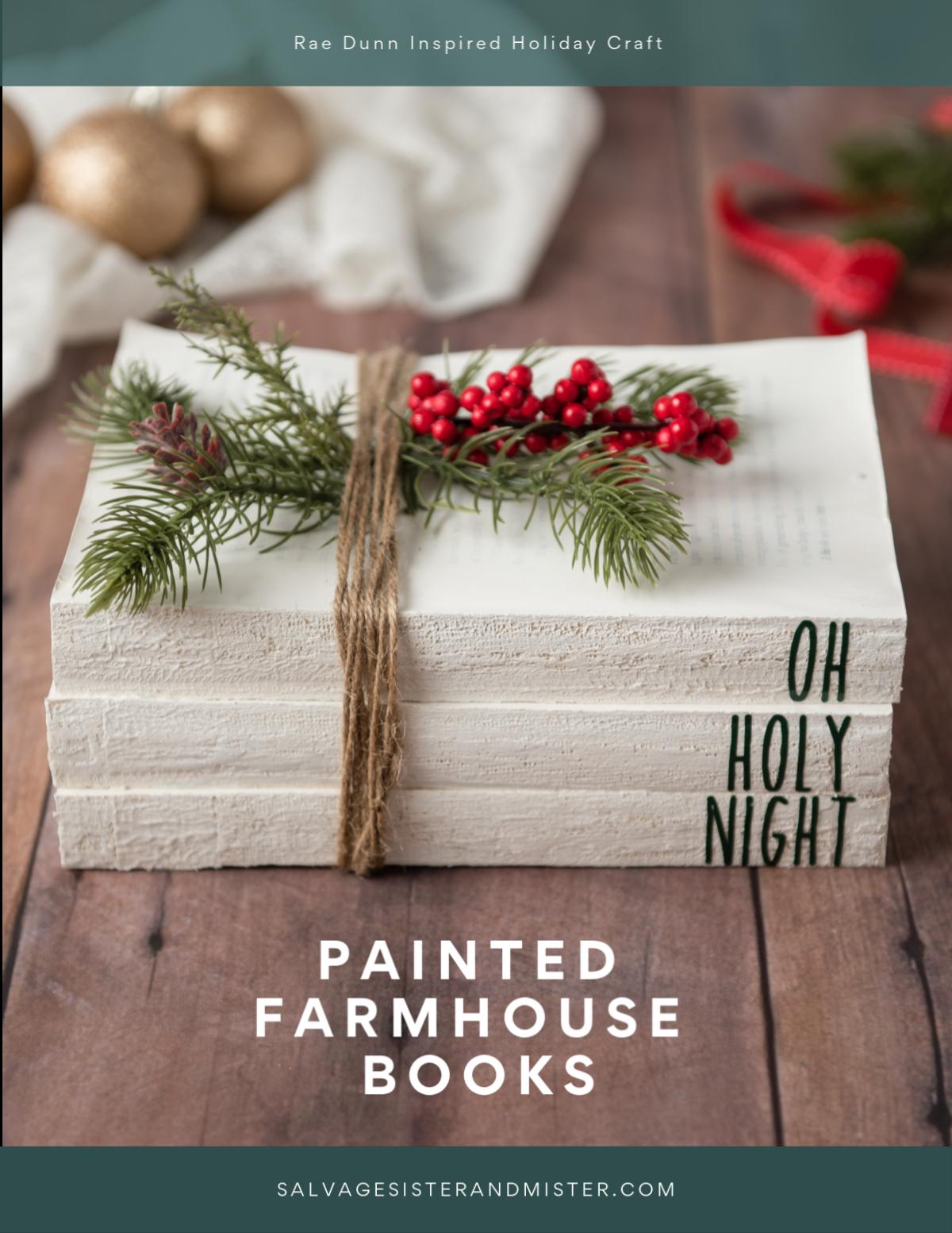 Rae Dunn Inspired Painted Books