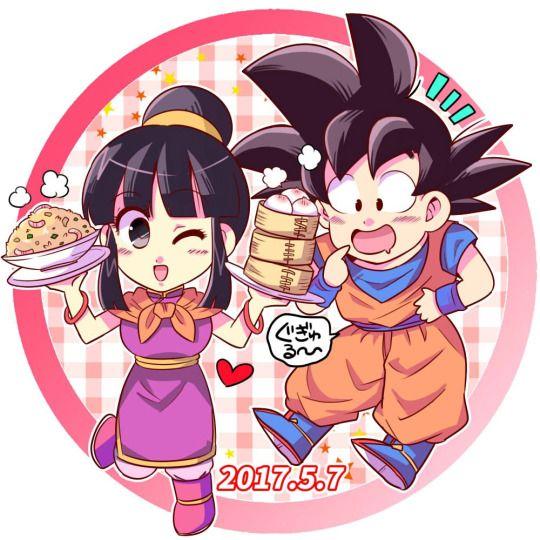 Goku Chi-Chi gochi dragon ball