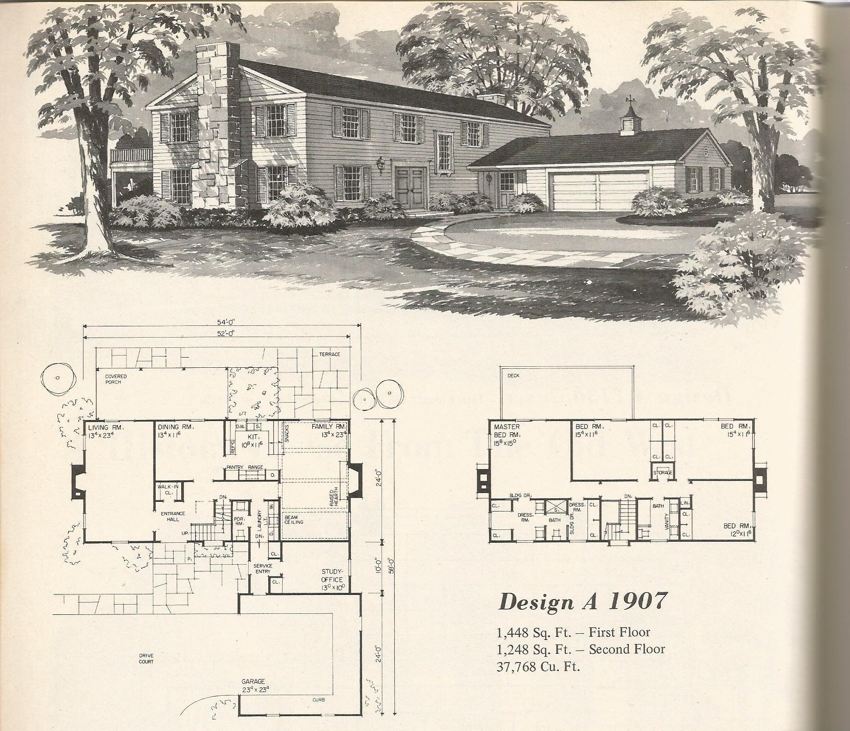 Vintage Home Plans Old West 1907 Vintage House Plans Vintage