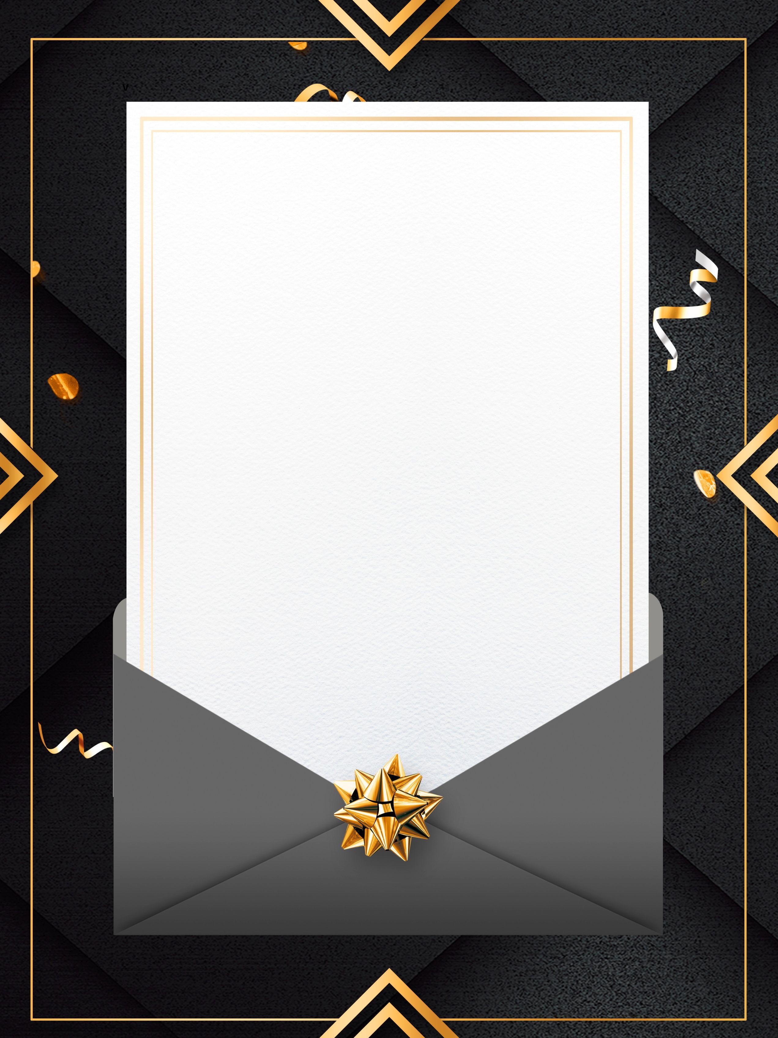 Mode Schwarzgold Wind Einladung Hintergrund Design Background Design Poster Background Design Invitation Background