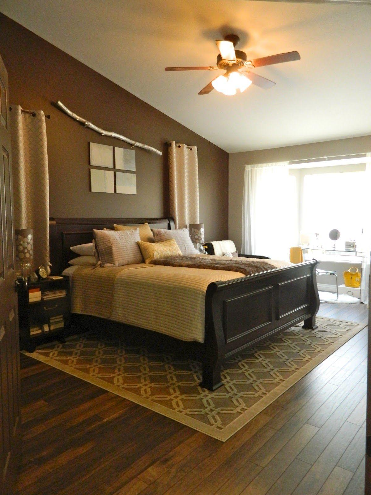 hardwood floors in the master bedroom// I like the area