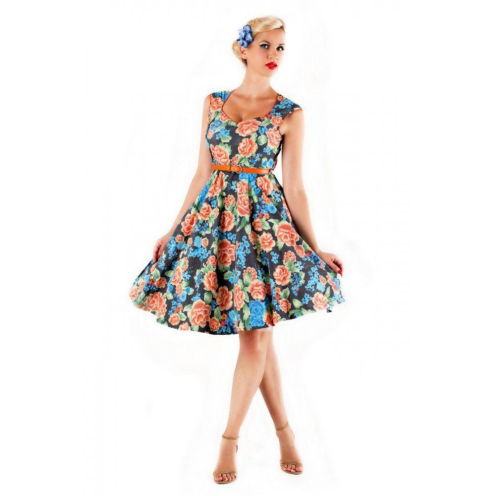Vintage Wedding Dresses Miami: Lindy Bop 'YULIA' VINTAGE 1950's BLACK CLASSY MIAMI BEACH