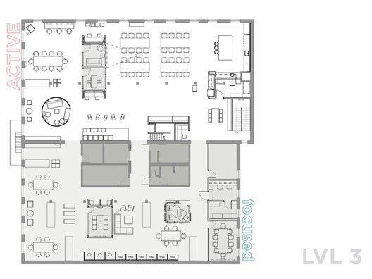 Gallery Of Airbnb Cx Hub Bora Architects 11 Office Floor Plan Architect Floor Plans