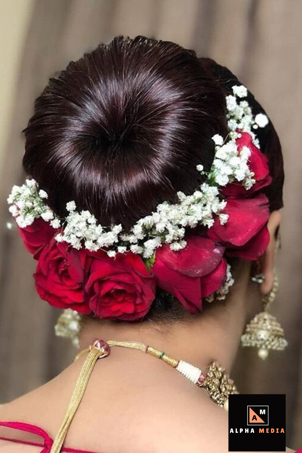 Wedding Hair Inspiration Accessorise Your Hair With Small Flowers On Your Wed Indian Wedding Hairstyles Indian Bridal Hairstyles Indian Hairstyles