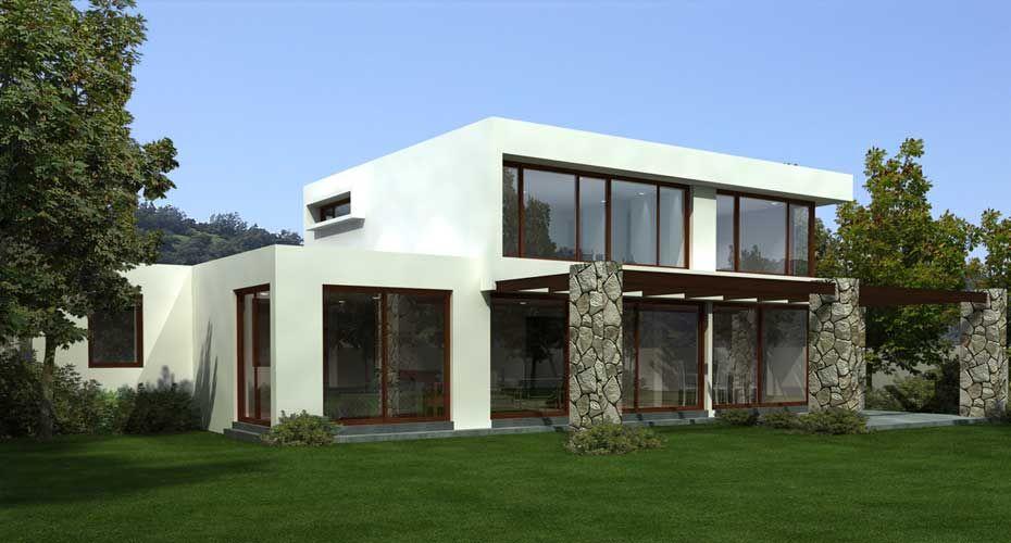 Fachada trasera mi casa casas mediterr neas imagenes - Casas prefabricadas mediterraneas ...