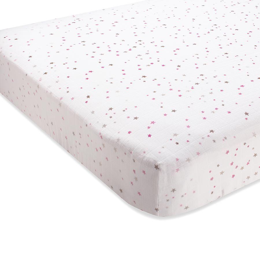 Pretty Pink Anais Crib Sheet Aden by Aden