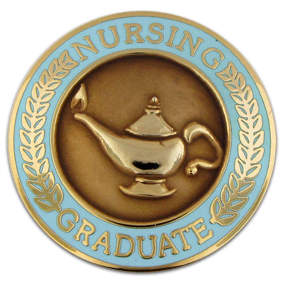 Pinmartu0027s Nursing Graduate Lamp Of Knowledge Circle Teal Enamel Lapel Pin  #ebay #Fashion