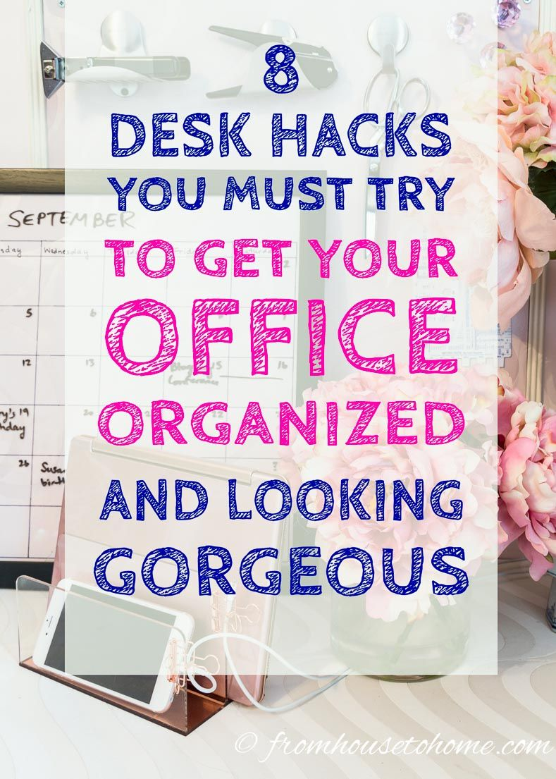 organize office desk. 8 Desk Organization Hacks That Will Boost Your Productivity Organize Office L